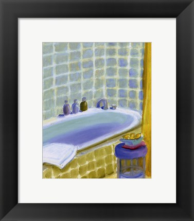 Framed Porcelain Bath ll Print