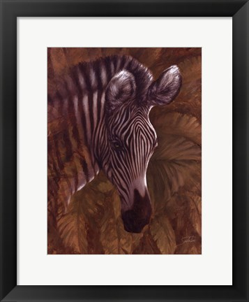 Framed Safari Zebra Print