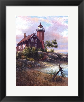 Framed Eagle Harbor Light Print