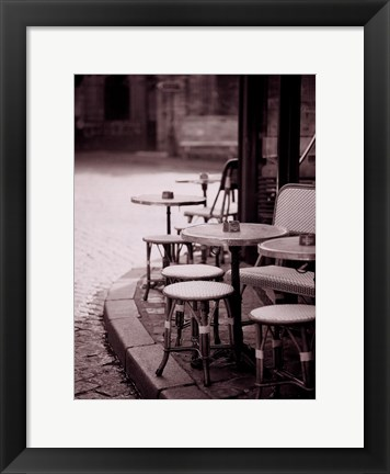 Framed Cafe De Paix Print