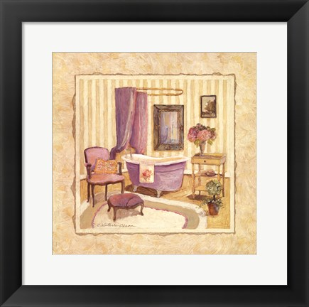 Framed Romantic Bath I Print