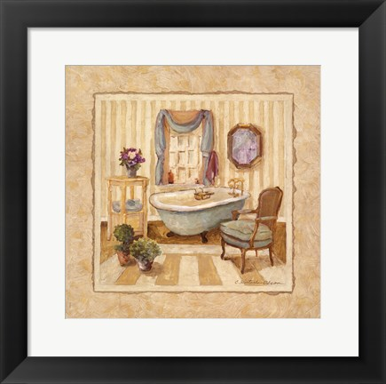Framed Romantic Bath IV Print