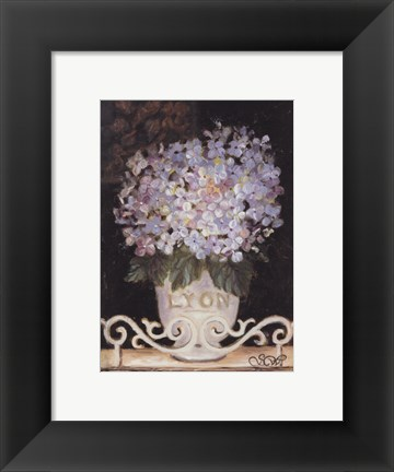 Framed Hydrangeas Of Lyon Print