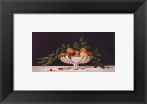 Framed Fruit In An Oval Of Silver Print