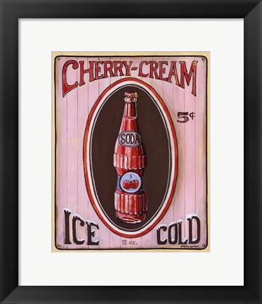 Framed Cherry Cream Print