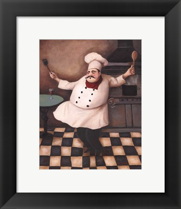 Framed Chef III Print