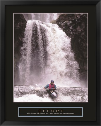 Framed Effort - Kayaker Print