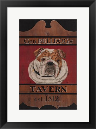 Framed General Bulldog's Tavern Print