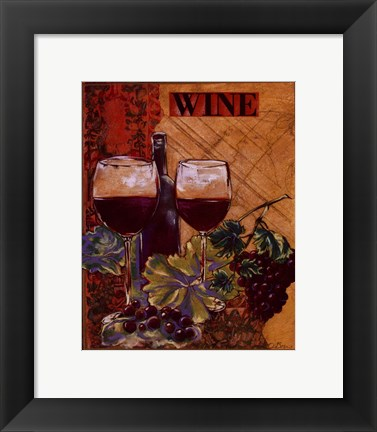 Framed World Of Wine I Print