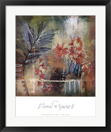 Framed Floral Species II Print