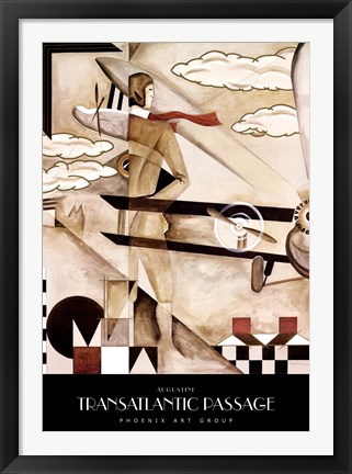 Framed Transatlantic Passage Print