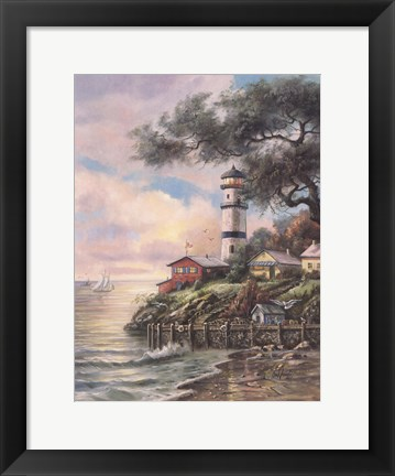 Framed Beacon Light Bay Print