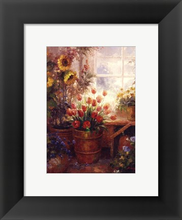 Framed Sunflower Garden I Print