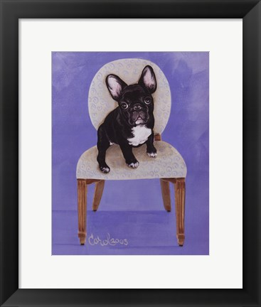 Framed Lulu The French Bulldog Print