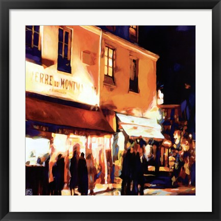 Framed Paris La Nuit Print