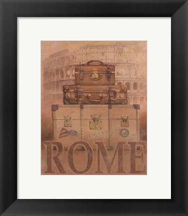 Framed Travel - Rome Print