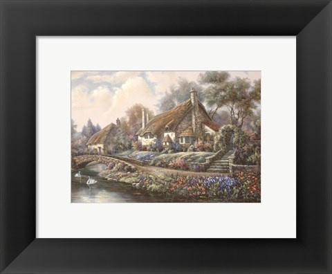 Framed Village Of Selworthy Print