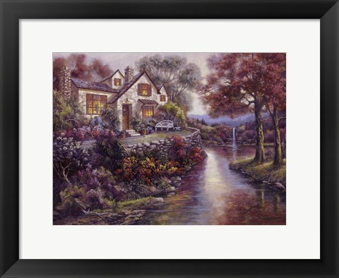 Framed Crystal Streams Bungalow Print