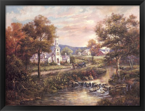 Framed Vermonts Colonial Times Print