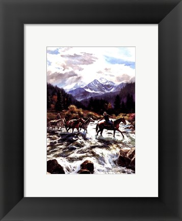 Framed High Mountain Crossing Print