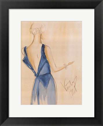 Framed Blue Dress I Print