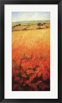 Framed Field With Poppies Print
