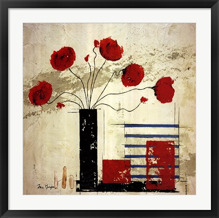 Framed Les Coquelicots II Print