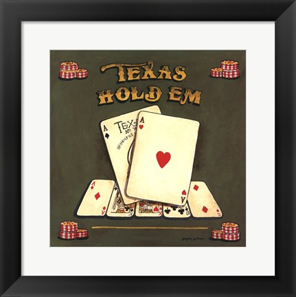 Framed Texas Hold Em Print