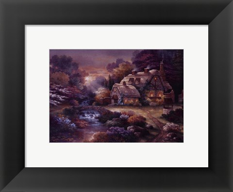 Framed Garden Wishing Well Print