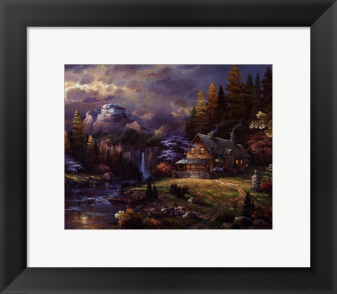 Framed Mountain Hideaway Print