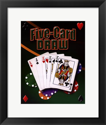 Framed Five Card Draw Print