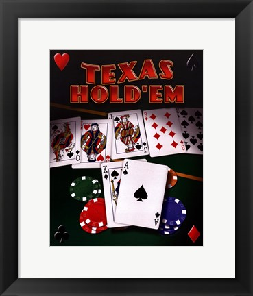 Framed Texas Hold 'Em Print