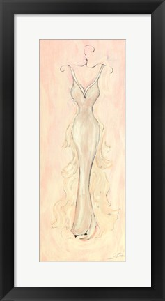 Framed White Evening Gown Print