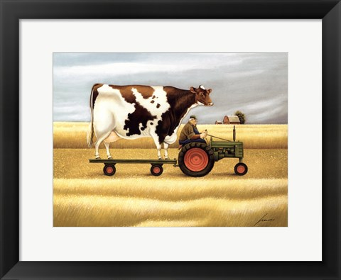 Framed Ride To The Fair Print