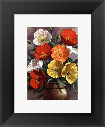 Framed Autumn Poppies Print