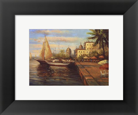 Framed Santo Domingo Harbor Print