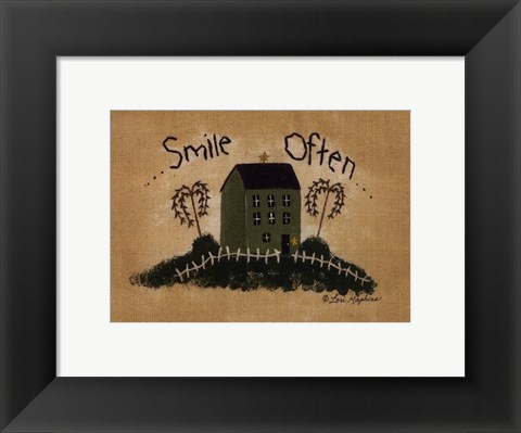 Framed Smile Often Print