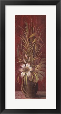 Framed Bamboo and Lilies Print