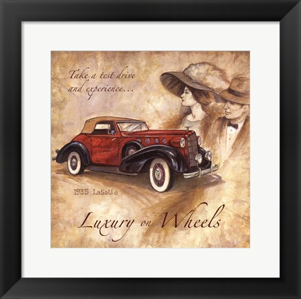 Framed Luxury On Wheels Print
