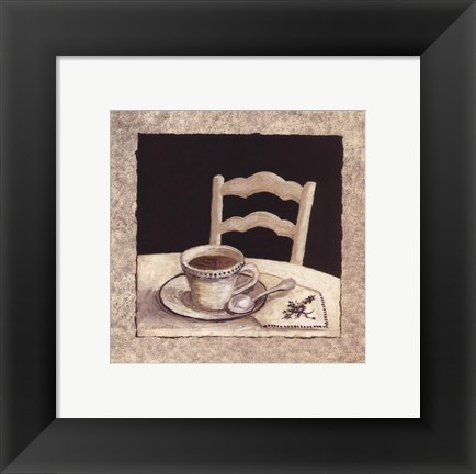 Framed Stay For Coffee IV Print
