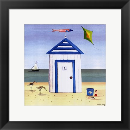 Framed Beach House 1 Print
