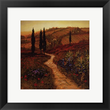 Framed Down The Lane Print