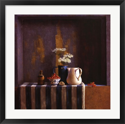 Framed Striped Still Life II Print