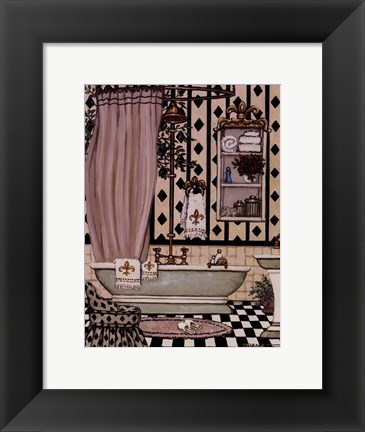 Framed Bath II Print