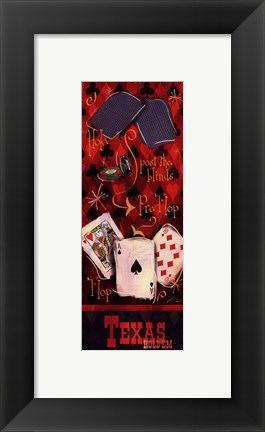 Framed Texas Hold'em I Print
