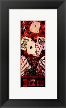 Framed Texas Hold'em II Print