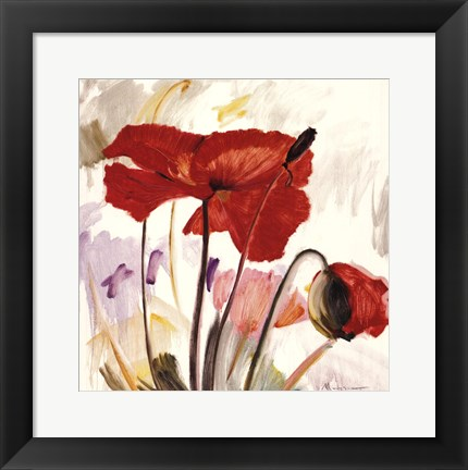 Framed Crimson Poppy 2 Print