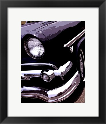 Framed Tail Fins And Two Tones II Print