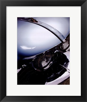 Framed Tail Fins And Two Tones VIII Print