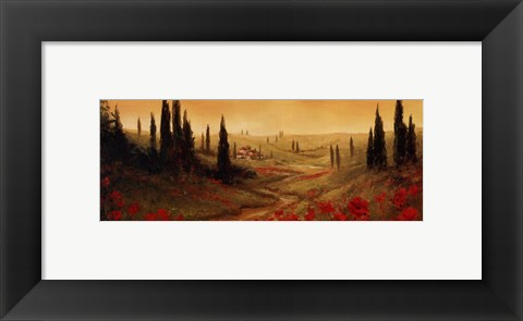 Framed Toscano Panel II Print